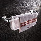 VENStL Wand Handtuchhalter Edelstahl Handtuchhalter Badezimmer Handtuchhalter Doppelschienen Bad Ablagen Badezimmerzubehör
