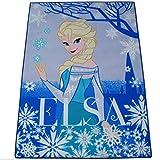 Elsa Teppich 133 x 95 cm Disney Frozen Eiskönigin Kinderteppich Modell 2