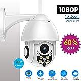 Machsmart® V101 - 12 MP Floodlight WiFi Wireless PTZ Bullet Camera 30 Metre Range
