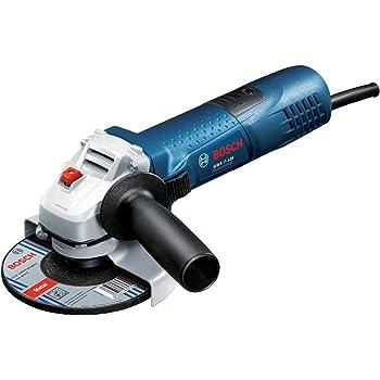 Bosch Professional Winkelschleifer GWS 7-125 (720 Watt, 125 mm Scheiben-Ø, Zusatzhandgriff, Schutzhaube, Zweilochschlüssel, ohne Wiederanlaufschutz)