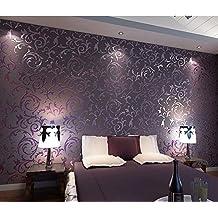 hanmero 3d no tejido papel pintado lujoso papel de pared tv teln de fondo dormitorio