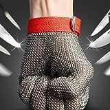 MASUNN Safety Cut Proof Stab Resistant Edelstahl Metall Mesh Butcher Handschuh Größe M