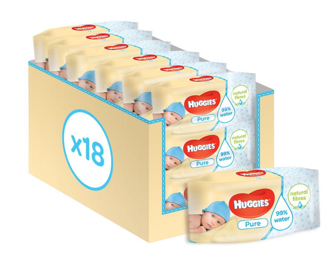 Paquetes Para Bebes Recien Nacidos.Huggies Pure Toallitas Para Bebe 18 Paquetes De 56 Unidades 1008 Toallitas