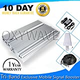 OXYWAVE® Premium Quality Tri Band 2G-3G-4G GSM-WCDMA-DCS-LTE/VOLTE Mobile Signal Booster for All Mobile Network Use at Offices, Flats, Basement, Farmhouse, Bungalow, Homes, Factories, Hospitals, etc Covered upto 3000 Square Feet with 25 Meter Cable