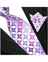 Normal Classic Tie, Cufflink and Matching Pocket Square - Jacquard