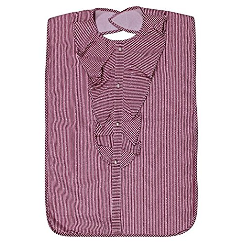Lady der erwachsenen Lätzchen, wasserfest, Pink Sparkle Streifen von Frenchie Mini Couture (Streifen Rosa Snap)