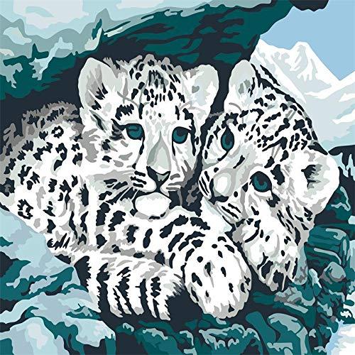 Cuadro óleo digital sin marco animal flor paisaje figura 40 * 50, 40 * 50
