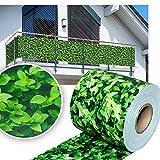 huigou HG visione protezione Strip Bar Matte recinzione strisce PVC diversi modelli per il giardino recinto o balcone (35Meter, Bosso)