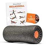 Relaxroll ® (Das Original) Faszienrolle, BLACK edition ROLLE 100% Made in Germany, inkl. Übungs-DVD und Übungs-Flyer