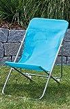 Liegestuhl für Kinder Gartenstuhl Liege Strandliege türkis