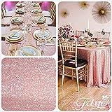 TRLYC, tovaglia per matrimoni 127cm x 183cm (larghezza x lunghezza), tessuto con lustrini, Altro, Blush  Pink , 50