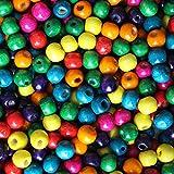Großpackung 540 St. Bunte Verschiedene Holzperlen von Kurtzy - Schmuckherstellung Holzperlen - Sortiment Set aus Runden Perlen-Kugeln - 4mm Perlen Set für Handwerk, Halsketten, Armbänder und Mehr