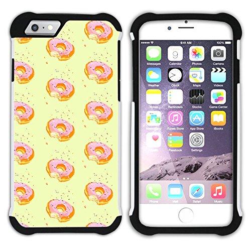 Graphic4You Gesüßt Krapfen Doughnut Hart + Weiche Kratzfeste Hülle Case Schale Tasche Schutzhülle für Apple iPhone 6 / 6S Design #14