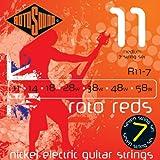Rotosound Roto Reds Jeu de 7 cordes pour guitare électrique Nickel Tirant medium (11 14 18 28 38 48 58) (Import Royaume Uni)