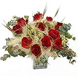 Ramo de rosas Ripoll - Flores RECIÉN CORTADAS y NATURALES de Gran Tamaño - ENTREGA EN 24h con Dedicatoria Personalizable Grat