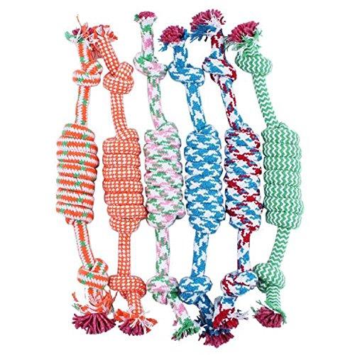 rameng Hundespielzeug Kordel 2Knoten Seil Kauwurzeln Reinigung von Zähne für Hunde (2 Knoten Seil)