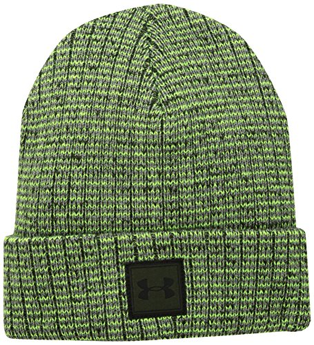 Under Armour Kinder Boy's Truckstop Beanie 2.0 Mütze, Moss High-Vis Yellow/Artillery Green (492), OSFA (Beanie Vis High)