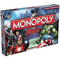 Hasbro Monopoly - Juego de mesa con diseño Avengers (versión en italiano)