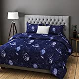 Rago Relish Abstract Space Print Blue And Grey BEDSHEET Set