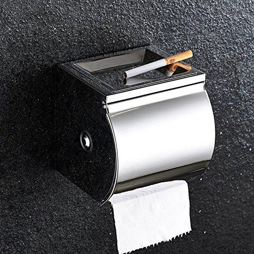 Pointth Edelstahl Toilettenpapierhalter mit Regal Toilettenpapierrolle Papierrollenhalter Wc Rack für Zuhause Gewerbliche Nutzung