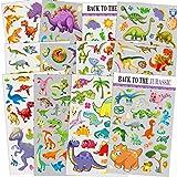 12 Blatt Dinosaurier Aufkleber für Kinder, Lehrer, Eltern, Großeltern, Kinderhandwerk, Partyartikel, Sammelalbum Machen, Belohnung Aufkleber