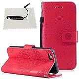 Die besten Iphone Fall Freund + Telefon-Kästen für Iphones - iPhone 6 Hülle Leder, iPhone 6S Hülle Rot Bewertungen
