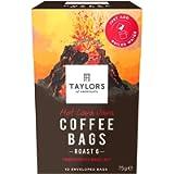Taylors of Harrogate Hot Lava Java Coffee Bags - 10 Enveloped Bags (Pack of 3, Total of 30 Coffee Bags)
