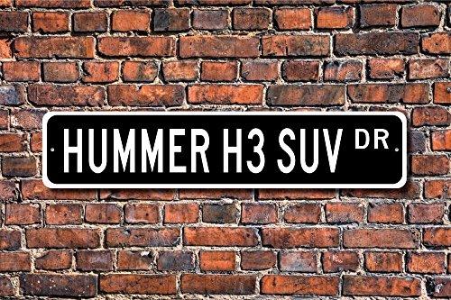 Gm 4-rad (Hummer H3SUV GM Hummer H3SUV Geschenk Hummer H3SUV SUV 4Rad Art Wand Schild DEKO Post Street groß Schild 45x 10cm)