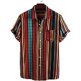 Camicia da Uomo Camicia da Bavero a Maniche Corte a Maniche Corte alla Moda Casual di Grandi Dimensioni