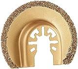 AGT Professional Sägeblatt für Multitool: Rundsägeblatt mit Carbid-Körnung f. Multitools, 65 mm, Schnellspannung