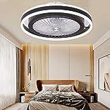 Ventilateur Silencieux Avec Éclairage LED 48W Plafonnier Avec Plafonnier Suspension Dimmable Télécommande Peut Timing Moderne