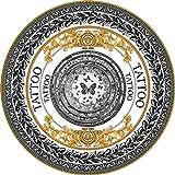 LXMBox Vintage Muster runder Teppich/Runde Yoga-Matte/Meditationsmatte/Fitness-Übungsmatte, Rutschfeste tragbare - Durchmesser 80 cm, A