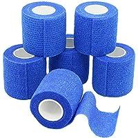 YuMai 6 Rollen Selbsthaftende Bandage, Wundverband, Sport Elastischer Verband, 5cm x 4.5m - Blau preisvergleich bei billige-tabletten.eu