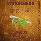 STOKOLBERG Tobacco Series Weeds E-Liquid mit Base shot in 60ml PET Flasche - Alle Sorten ohne Nikotin (Weeds)