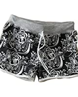 Sunjune Casual Girl's Teenagers Floral Print Surf Swim Board Shorts Sport Beach Pants