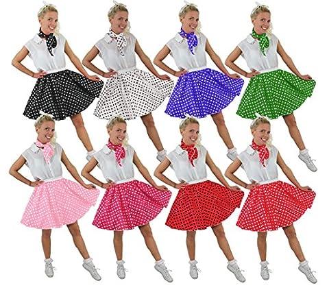 Rock And Roll Danse Costumes Pour Enfants - Ilovefancydress Jupe Style année 50 et foulard