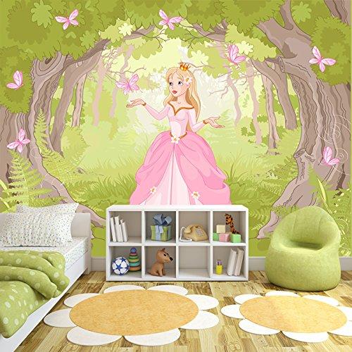 Prinzessin verzauberte Wälder Wandbild Märchen Foto-Tapete Mädchen Wohnkultur Erhältlich in 8 Größen Riesig Digital