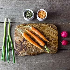 Rustico in legno di ulivo tagliere,–Tagliere per formaggio, 19cm x 12cm x 2cm