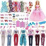 Tpocean 116 Stück Mode Puppenkleidung Und Zubehör Set 10 Puppe Kleider 14 Freizeit Outfits 1...