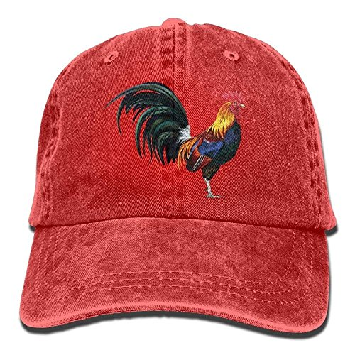 Yutirewer Unisex The Lifelike Rooster Funny Logo Summer Fashion Cotton Baseball Cap Adjustable Trucker Hats for Outdoor Sport