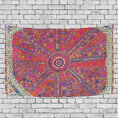 Hustor, grande medaglione suzani antico uzbekistan ricamato da parete, arazzo da parete per soggiorno, camera da letto, dormitorio, 152,4 x 129,5 cm