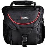 Carat Electronics Sac résistant avec bandoulière pour SLR et appareils photos et housse anti-pluie pour une protection maximale Taille M