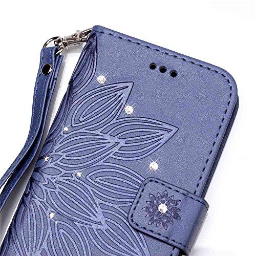 Akristal Bling Diamant Etui Housse Apple iPhone 6/6S (4.7 pouces), Slim-Book Portefeuille Coque Case Cover Prime Hybrid PU Wallet Skin Swag Smartphone Accessories Protection Protecteur D'écran Bumper  Multi-couleur 13