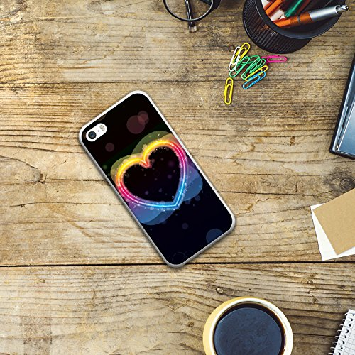 iPhone SE iPhone 5 5S Hülle, WoowCase® [Hybrid] Handyhülle PC + Silikon für [ iPhone SE iPhone 5 5S ] Husky-Hunde Sammlung Tier Designs Handytasche Handy Cover Case Schutzhülle - Transparent Housse Gel iPhone SE iPhone 5 5S Transparent D0574