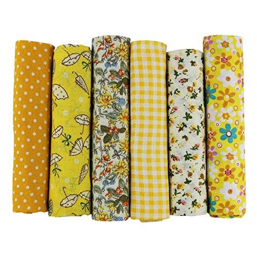UOOOM 6pcs 50x 50cm, diseño de retales algodón Tejido DIY hecho a mano Costura Quilting tela diseños diferentes
