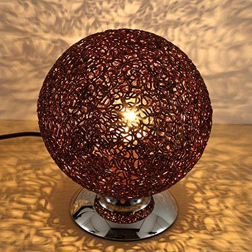 Preisvergleich Produktbild XHOPOS HOME Tischleuchte Tischlampe Schlafzimmer Nachttischlampe minimalistisch modern eingerichtete helle kleine Nachtlichter Sepaktakraw Lampen Braun LEDS DimmTastenschalter