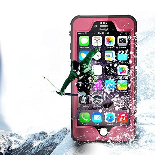Yihya Nuova Versione Durevole Completa Sealed Impermeabile Protettiva Copertura Custodia per Apple iPhone 6 6S 4.7  Antiurto Snowproof Antis-porco Case Cover Submarine Housing Skin con Altri Accessor Rosa
