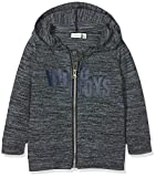 NAME IT Jungen Strickjacke Nmmlari LS Knit Card W. Hood, Blau (Dusty Blue Dusty Blue), 98