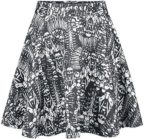 Hell Bunny Malice Skirt Rock schwarz Schwarz