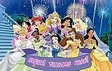 WFWD Cialda in Ostia per Torta Rettangolare PRINICIPESSE Disney Personalizzata, Principessa, Princess, cialde, ostie, Torte, Topper, Mis. 20x30 cm